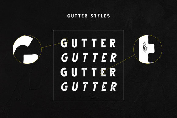 Print on Demand: Gutter Sans Serif Font By Dikas Studio - Image 2