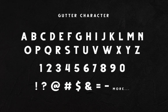 Print on Demand: Gutter Sans Serif Font By Dikas Studio - Image 3