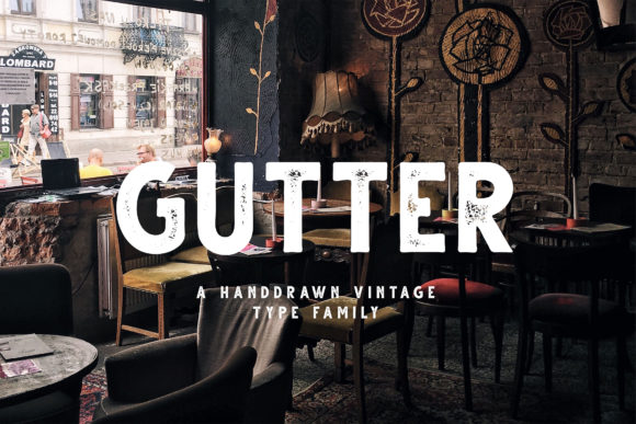 Print on Demand: Gutter Sans Serif Font By Dikas Studio - Image 1