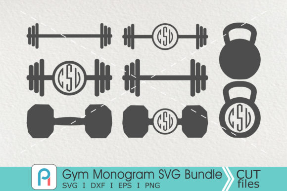 Gym Monogram Svg, Gym Svg, Gym Clipart Graphic Crafts By Pinoyartkreatib