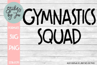 Download Free Gymnastics Squad Graphic By Stickers By Jennifer Creative Fabrica for Cricut Explore, Silhouette and other cutting machines.