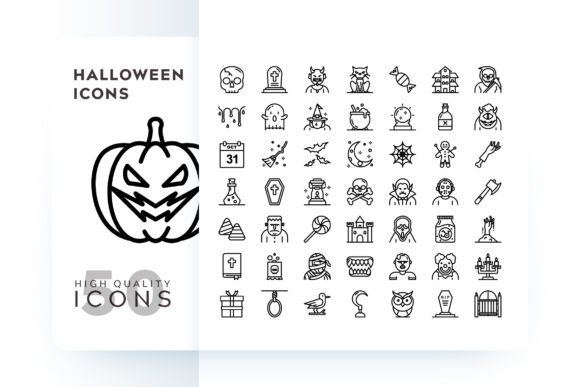 Print on Demand: HALLOWEEN ICON Graphic Icons By Goodware.Std