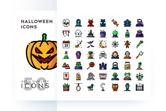 HALLOWEEN ICON Graphic Icons By Goodware.Std - Image 1