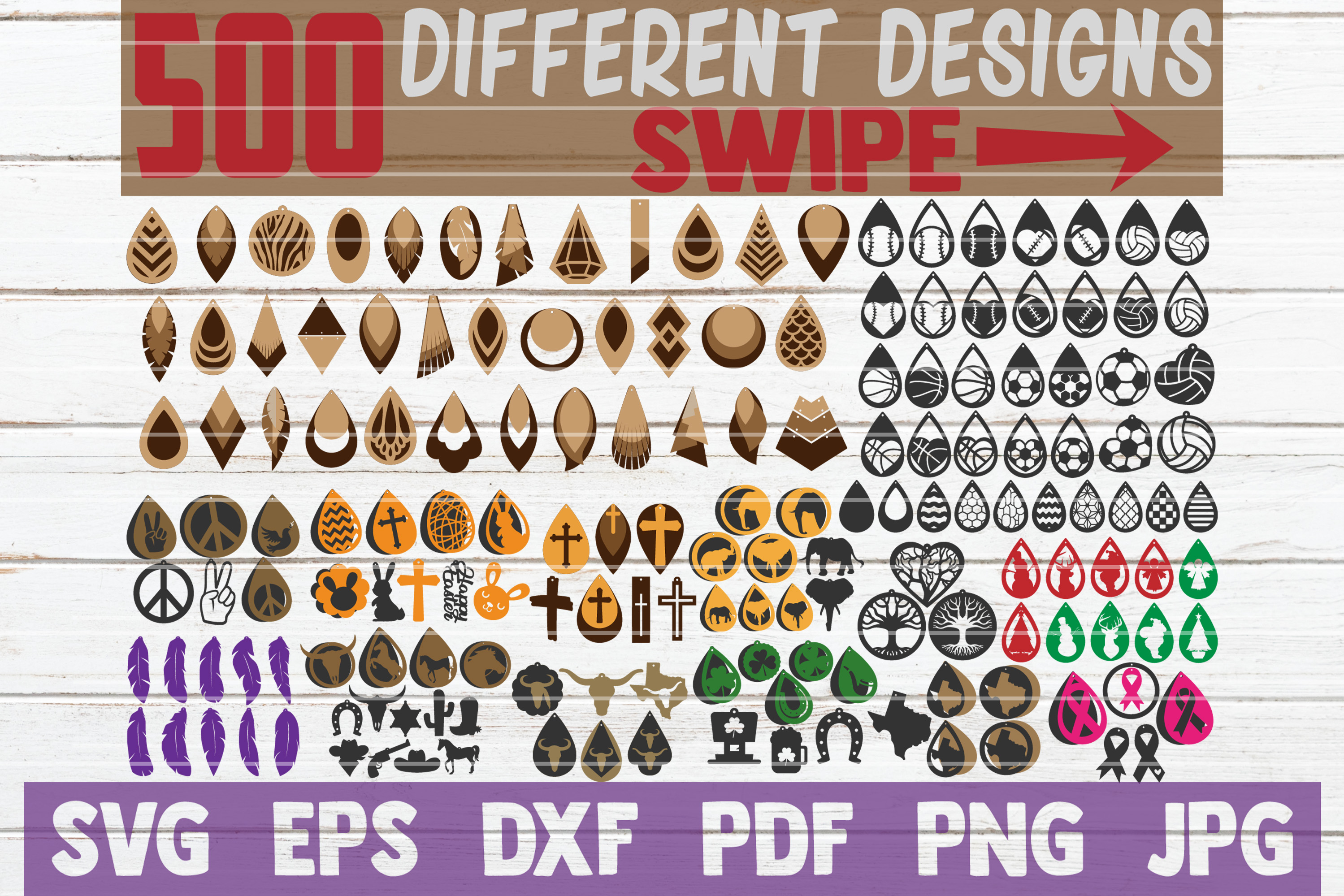 HUGE Earring SVG Bundle | SVG Cut Files