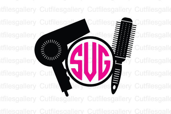 Download Free Hairdresser Monogram Graphic By Cutfilesgallery Creative Fabrica for Cricut Explore, Silhouette and other cutting machines.