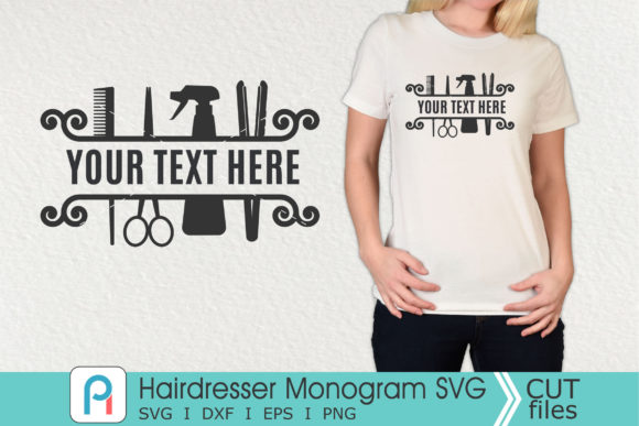 Hairdresser Monogram Svg, Hairdresser Graphic Crafts By Pinoyartkreatib
