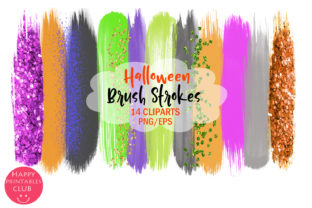 Halloween Brush Strokes Clipart-Brushes Graphic By Happy Printables Club