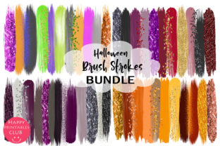Halloween Brush Strokes Clipart Bundle Graphic By Happy Printables Club