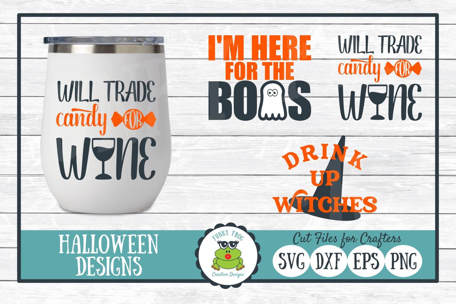 Download Free Halloween Design Bundle Graphic By Funkyfrogcreativedesigns for Cricut Explore, Silhouette and other cutting machines.