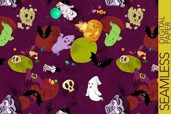 Print on Demand: Halloween Funny Characters Graphic Patterns By Milaski