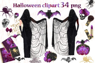 Print on Demand: Halloween Planner Girl Graphic Illustrations By ChiliPapers