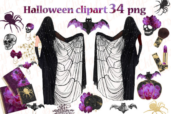 Halloween Planner Girl Graphic Illustrations By ChiliPapers