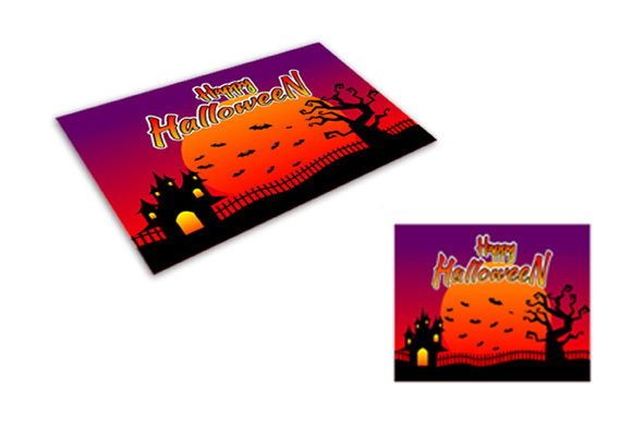 photo regarding Printable Halloween Card named Halloween Printable Greeting Card