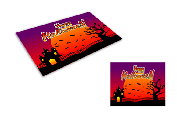 Download Free Halloween Printable Greeting Card Graphic By Fatrin99art for Cricut Explore, Silhouette and other cutting machines.