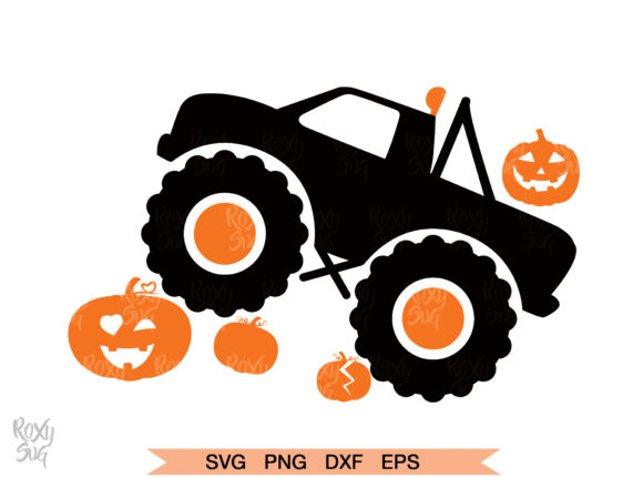 Download Free Halloween Pumpkin Monster Truck Graphic By Roxysvg26 Creative for Cricut Explore, Silhouette and other cutting machines.