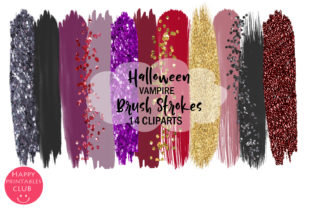 Halloween Vampire Brush Strokes Clipart Graphic By Happy Printables Club