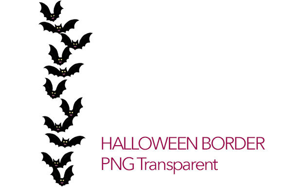 Download Free Halloween Bats Vampire Border Clipart Graphic By Milaski Creative Fabrica for Cricut Explore, Silhouette and other cutting machines.