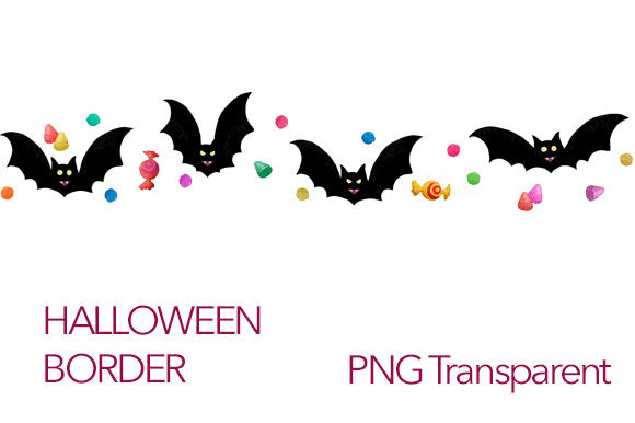 Download Free Halloween Border Vampires And Candies Grafico Por Milaski for Cricut Explore, Silhouette and other cutting machines.