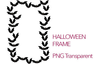 Download Free Halloween Theme Bats Flying Frame Grafik Von Milaski for Cricut Explore, Silhouette and other cutting machines.