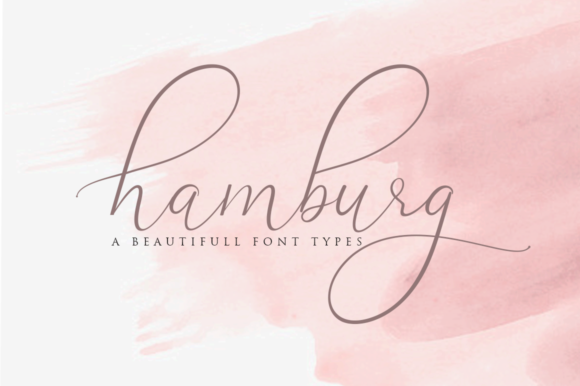 Print on Demand: Hamburg Script & Handwritten Font By Haksen