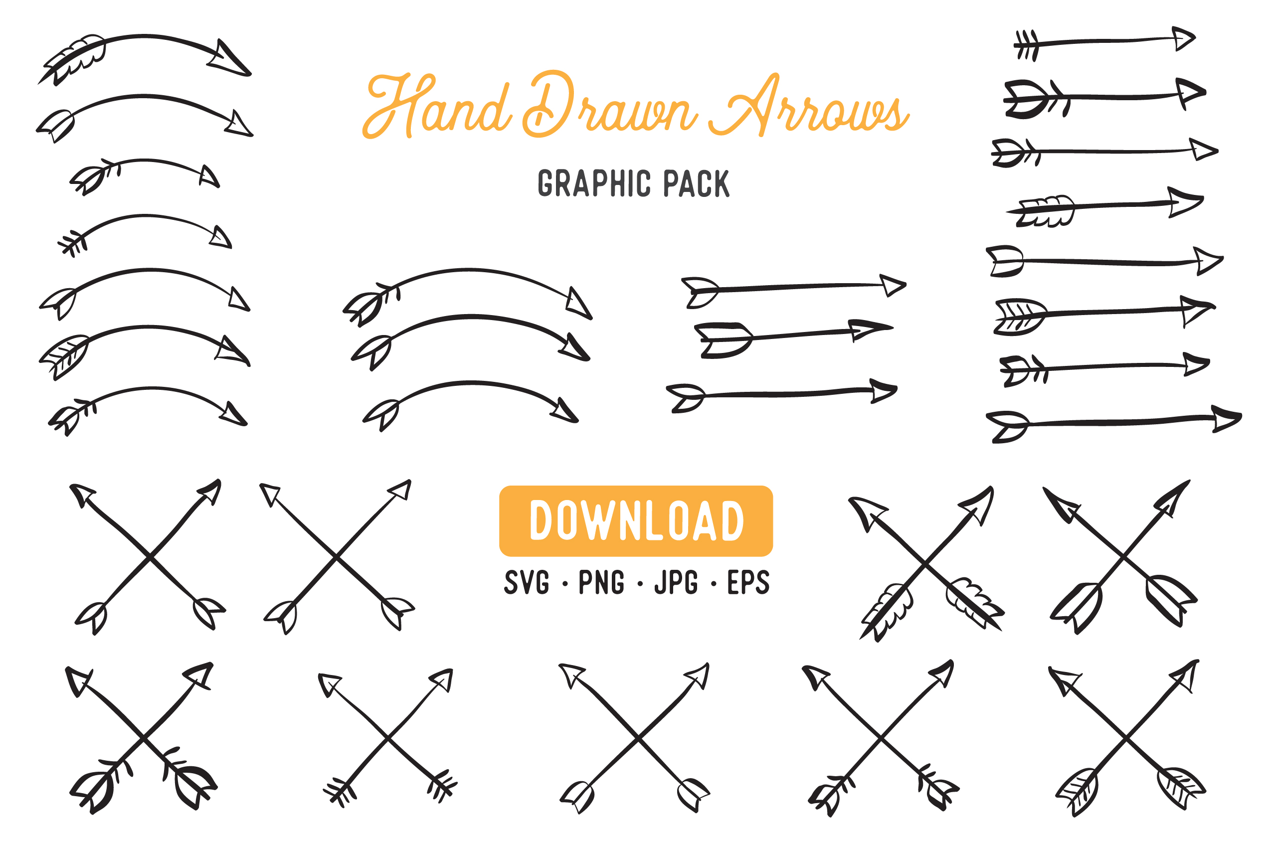 Download Free Hand Drawn Arrow Laurel Clipart Pack Graphic By The Gradient Fox for Cricut Explore, Silhouette and other cutting machines.