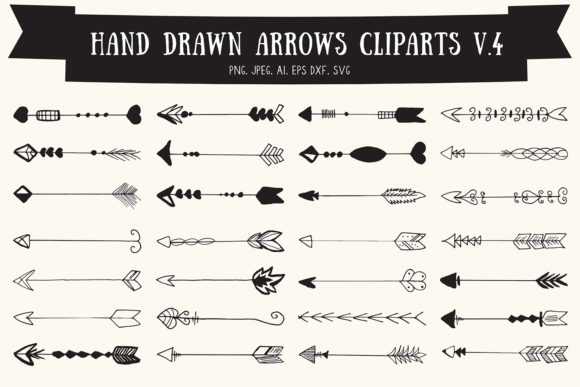 Print on Demand: Hand Drawn Arrows Cliparts Ver. 4 Graphic Illustrations By Creative Tacos