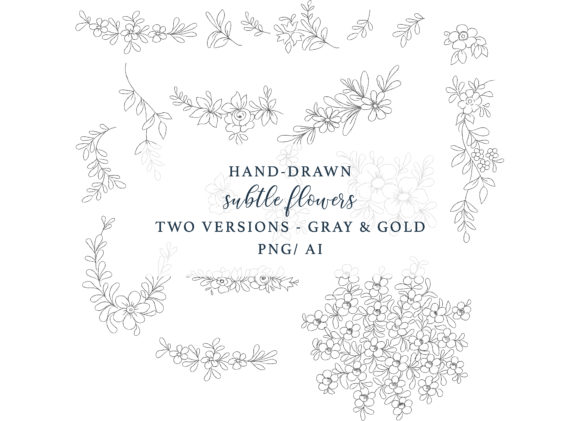Hand Drawn Elegant Fine Line Graphic Set Graphic Illustrations By Patishop Art - Image 6