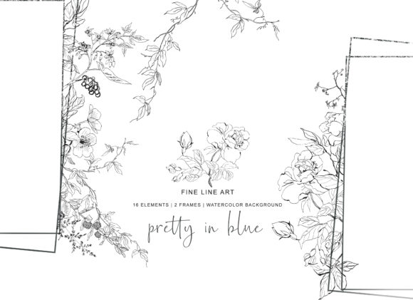 Hand Drawn Fine Line Wild Flowers Set Graphic Illustrations By Patishop Art - Image 6
