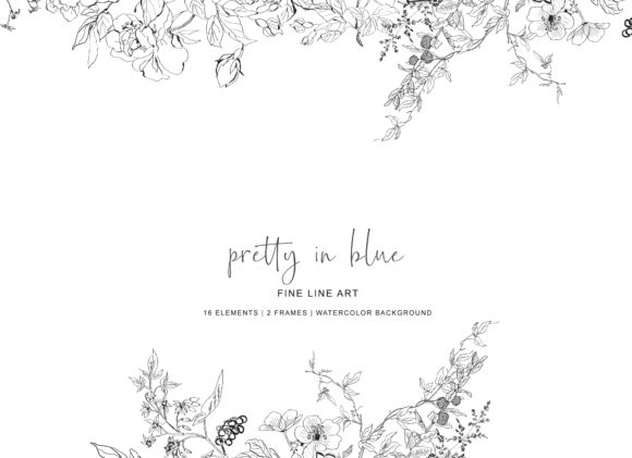 Hand Drawn Fine Line Wild Flowers Set Graphic Illustrations By Patishop Art - Image 7