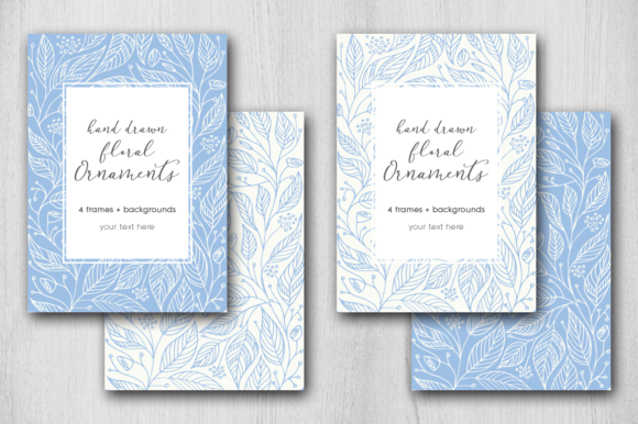 Print on Demand: Hand Drawn Floral Card Graphic Graphic Templates By Margarita Dyakovich - Image 2