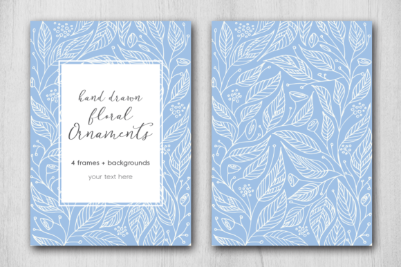 Print on Demand: Hand Drawn Floral Card Graphic Graphic Templates By Margarita Dyakovich - Image 3