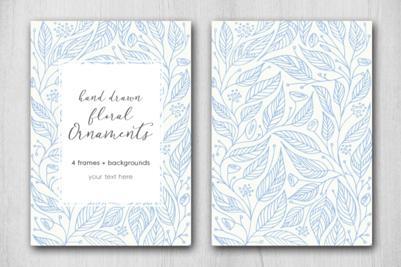 Print on Demand: Hand Drawn Floral Card Graphic Graphic Templates By Margarita Dyakovich - Image 4