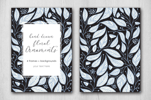 Print on Demand: Hand Drawn Floral Card Graphic Graphic Templates By Margarita Dyakovich - Image 5