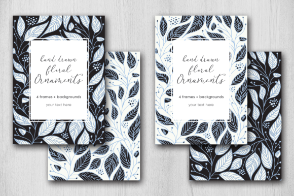 Print on Demand: Hand Drawn Floral Card Graphic Graphic Templates By Margarita Dyakovich - Image 1