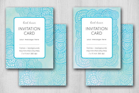 Download Free Hand Drawn Invitation Card Graphic By Margarita Dyakovich for Cricut Explore, Silhouette and other cutting machines.