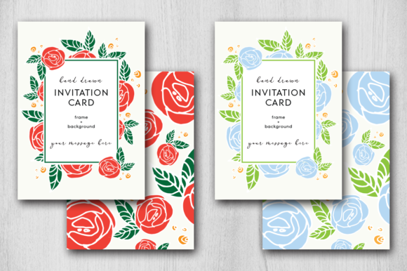 Print on Demand: Hand Drawn Rose Card Graphic Graphic Templates By Margarita Dyakovich