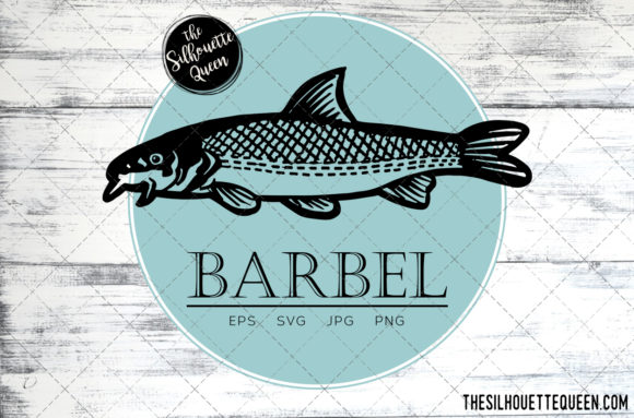 Download Free Hand Drawn Sketched Barbel Fish Vector Graphic By for Cricut Explore, Silhouette and other cutting machines.