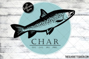 Download Free Hand Drawn Sketched Char Fish Vector Graphic By for Cricut Explore, Silhouette and other cutting machines.