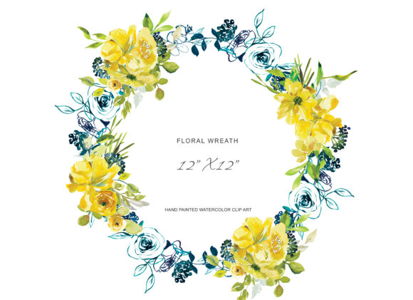 Download Free Hand Painted Watercolor Lemon Flowers Graphic By Patishop Art for Cricut Explore, Silhouette and other cutting machines.