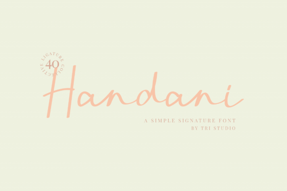 Print on Demand: Handani Script & Handwritten Font By Ahgo Studio