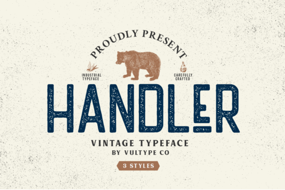 Print on Demand: Handler Sans Serif Font By vultype