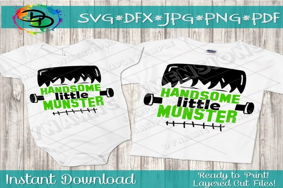 Download Free Handsome Little Monster Svg Graphic By Dynamicdimensions for Cricut Explore, Silhouette and other cutting machines.