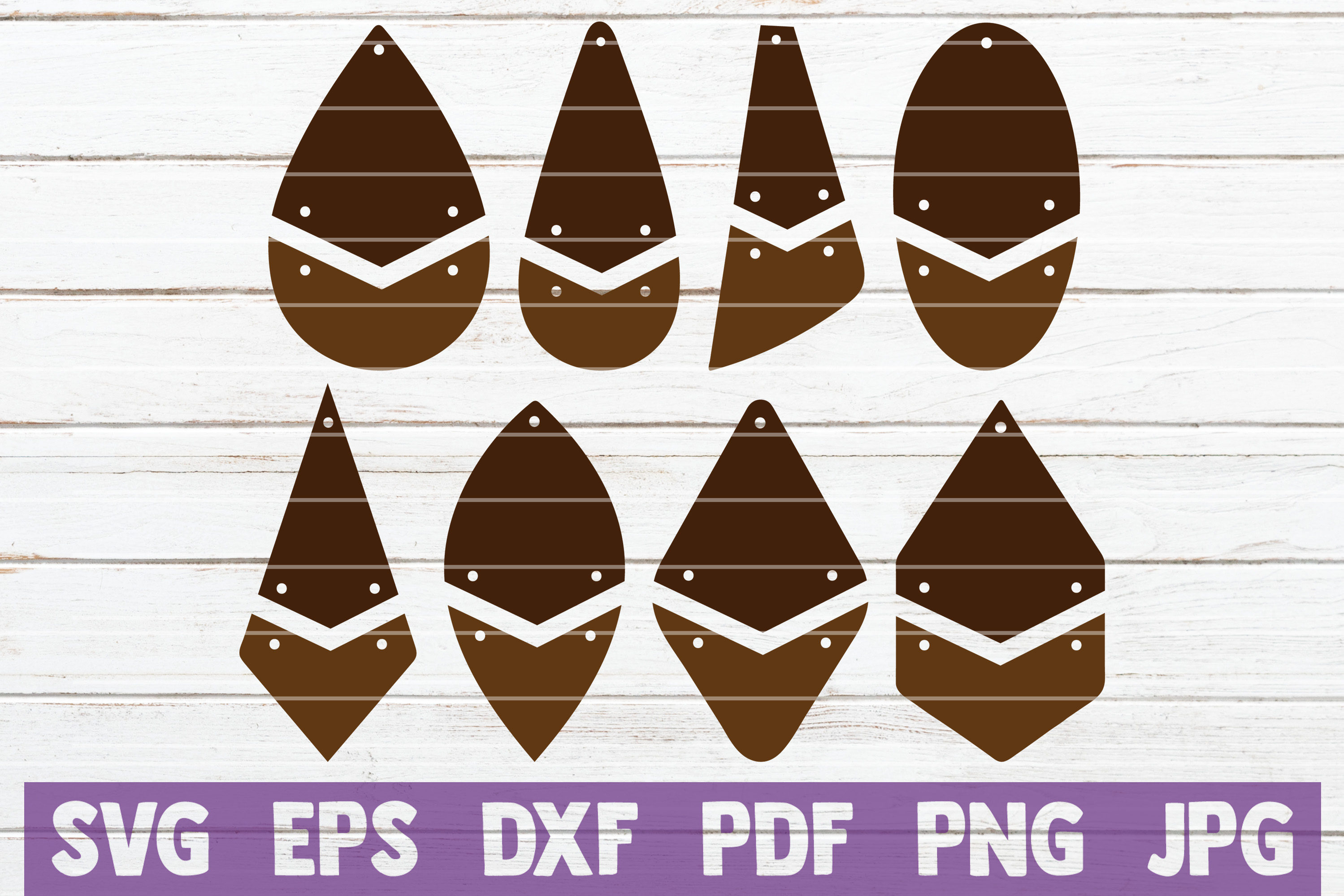 Download Free Hanging Two Parts Earrings Bundle Graphic By Mintymarshmallows for Cricut Explore, Silhouette and other cutting machines.