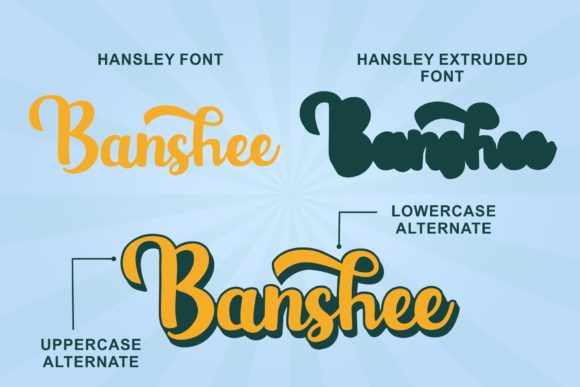 Hansley Font By LetterBeary Image 3