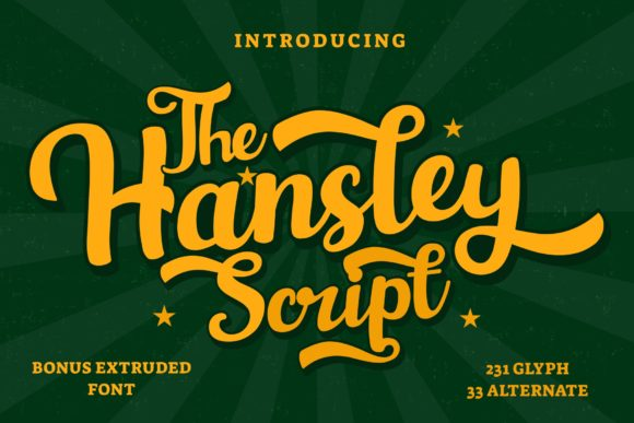Print on Demand: Hansley Script & Handwritten Font By LetterBeary