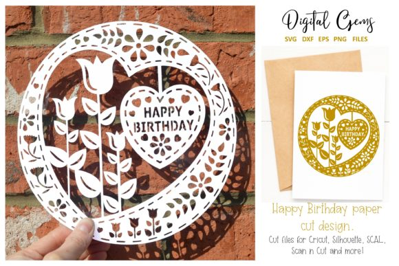 Happy Birthday Papercut Design Graphic By Digital Gems