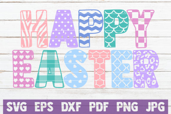 Happy Easter SVG Cut File Graphic Graphic Templates By MintyMarshmallows - Image 1