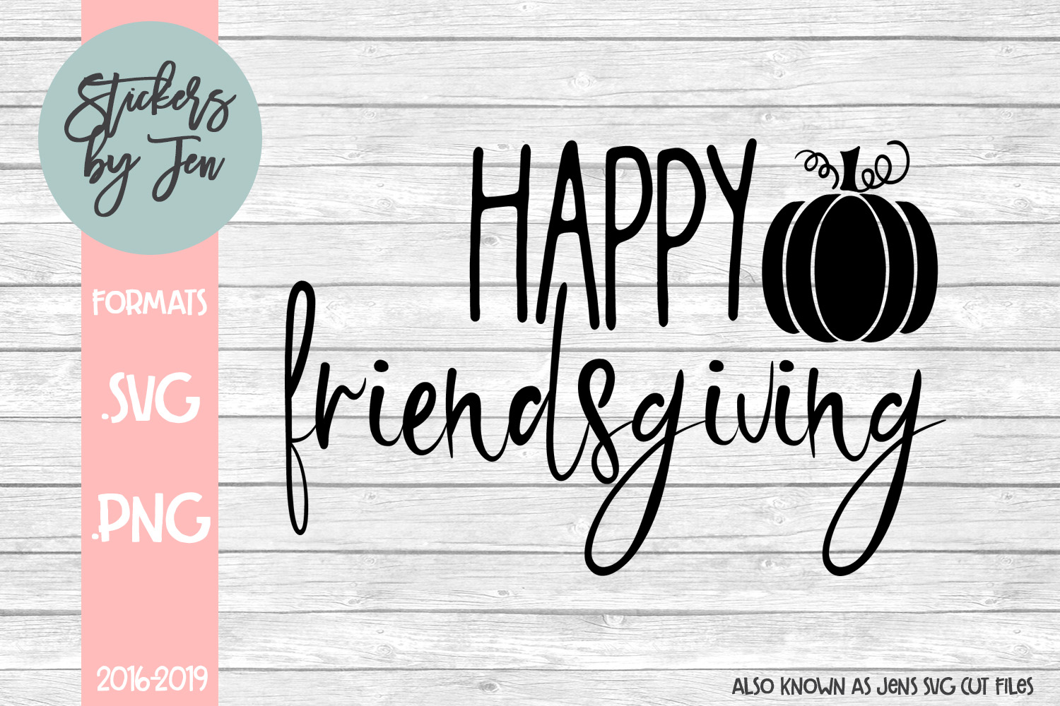 Download Free Happy Friendsgiving Graphic By Stickers By Jennifer Creative for Cricut Explore, Silhouette and other cutting machines.
