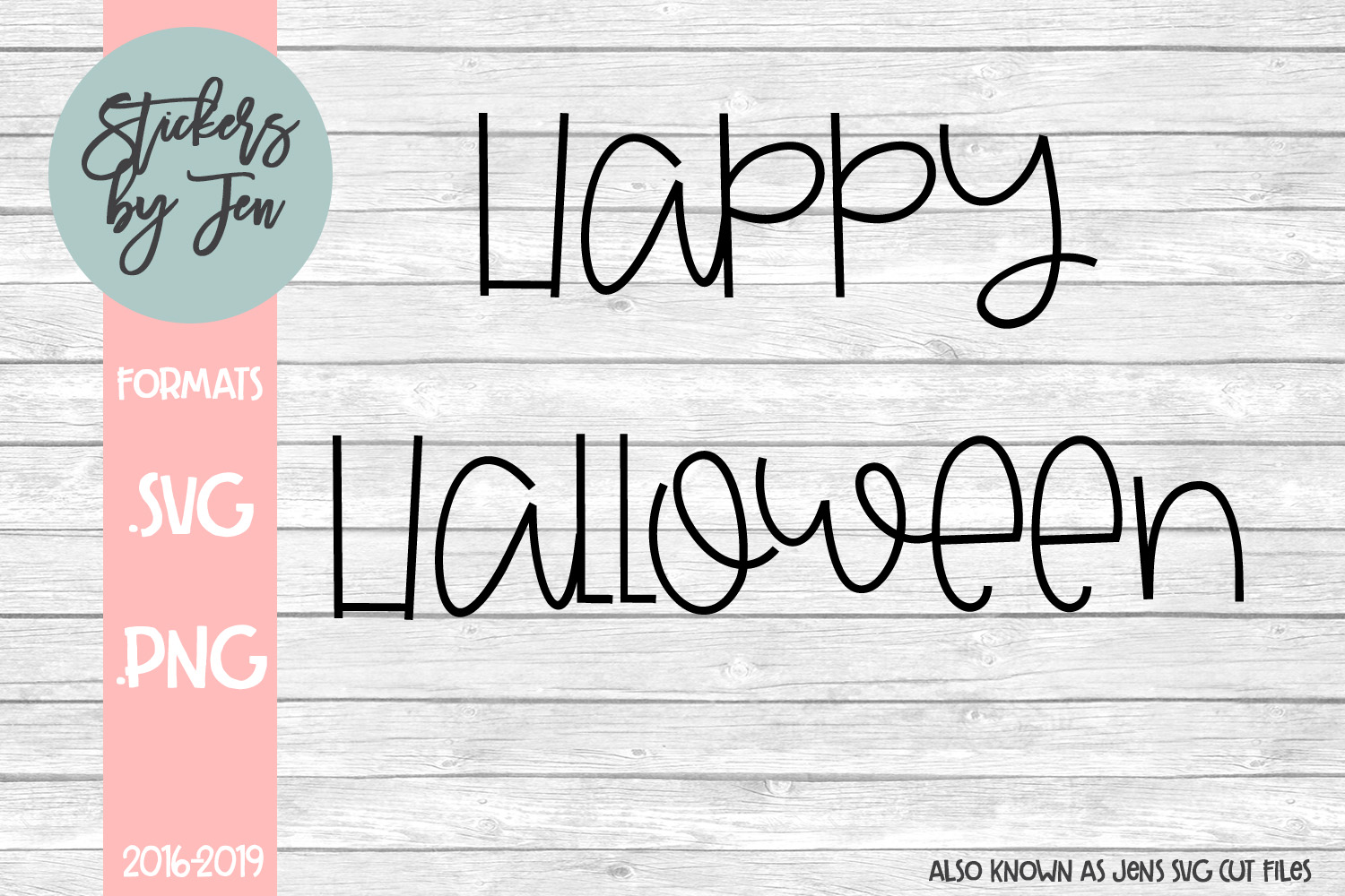 Download Free Happy Halloween Svg Graphic By Stickers By Jennifer Creative for Cricut Explore, Silhouette and other cutting machines.
