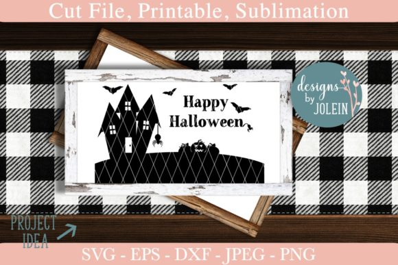 Download Free Happy Halloween Graphic By Designs By Jolein Creative Fabrica for Cricut Explore, Silhouette and other cutting machines.